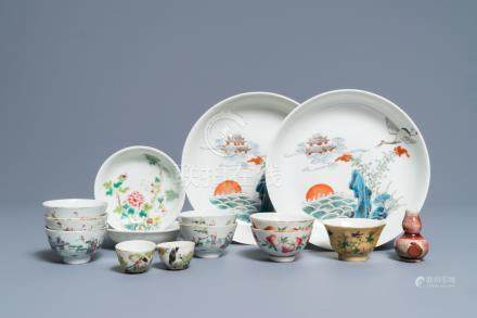 A varied collection of Chinese porcelain, 19th C. and Republic