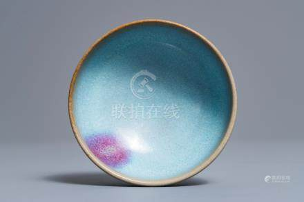 A Chinese junyao purple splash bowl, Song or later