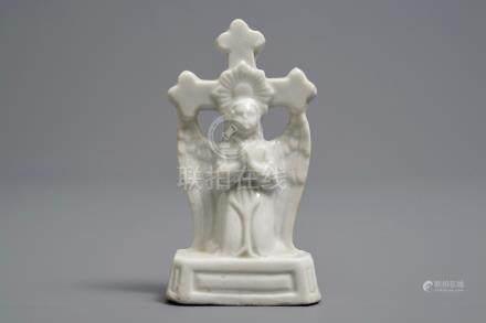 A rare Chinese Dehua blanc de Chine crucifix, Kangxi/Qianlong