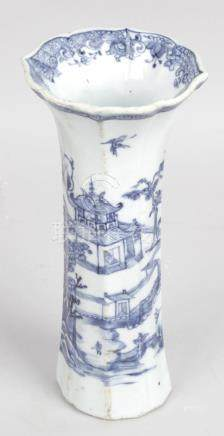 A Chinese Quinlong blue and white vase,