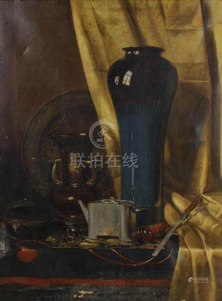Still life with oriental objects,