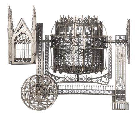 Delvoye W., 'Concrete Mixer' (scale model 1:4), laser cut stainless steel, 2009, H 43,5 - W 50 - D 29 cm. Is possibly subject of the SABAM legislation / consult 'Conditions of Sale'