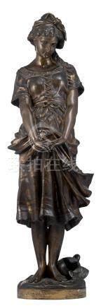Moreau H., the source, patinated bronze, H 65 cm