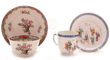 Chinese porcelain coffee cup and saucer