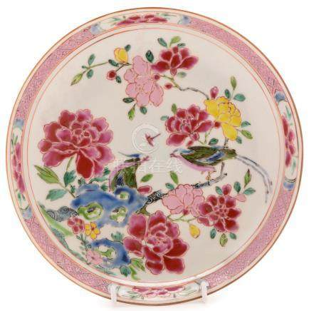 An 18th Century Chinese Famille Rose saucer dish,