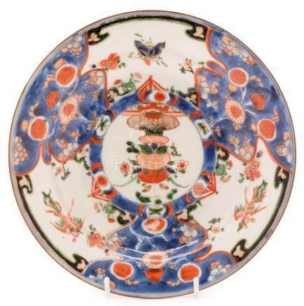 A Kangxi Famille Verte soup plate,