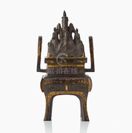 A bronze incense burner 'Boshanlu'