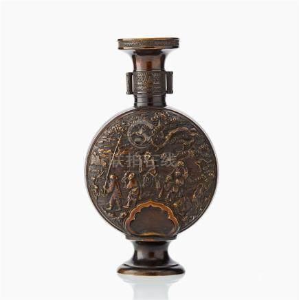 An Oriental bronze vase