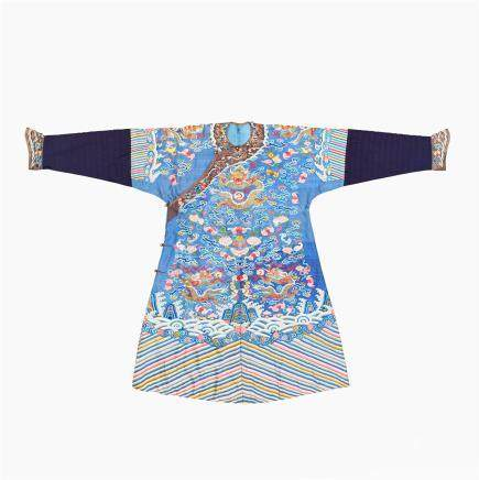 A blue ground dragon robe, jifu