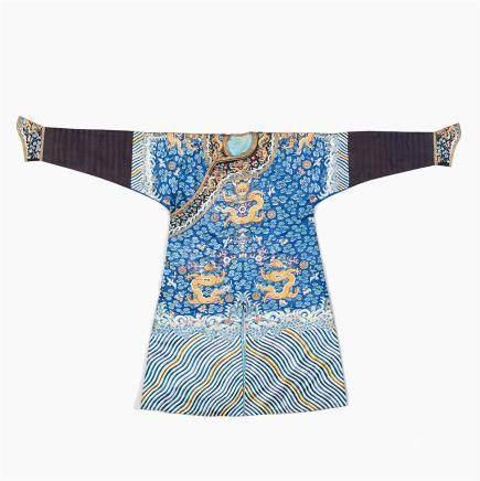 A blue ground dragon robe jifu