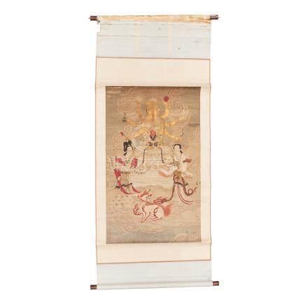 A thangka painting of Marichi
