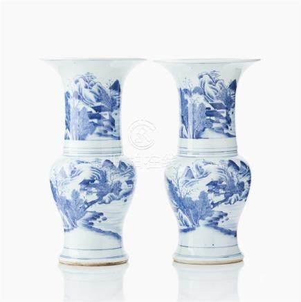 A pair of yen-yen vases
