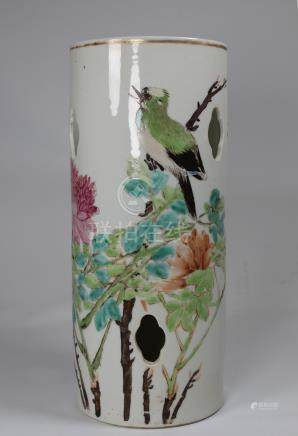 Antique Chinese Porcelain Hat Stand, Signed