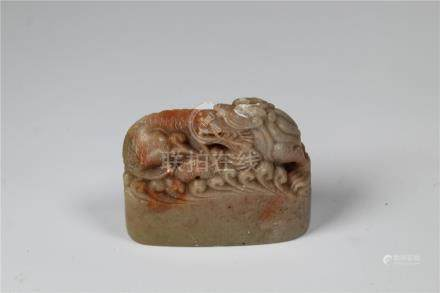 Chinese Carved Stone Dragon Chop