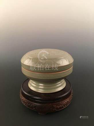 A Chinese Yaozhou Kiln Porcelain Box