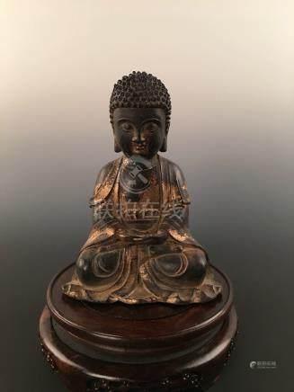 Chinese Gilt Brass Buddha Statue