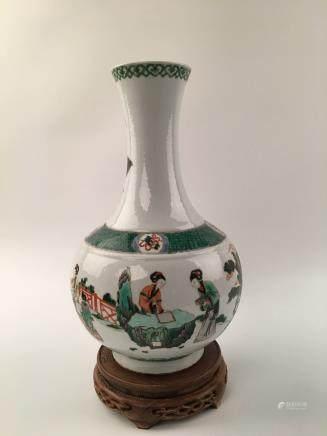Chinese Wucai Figure Vase