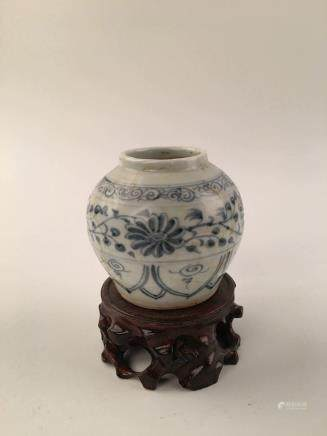 Chinese Blue &White Small Jar