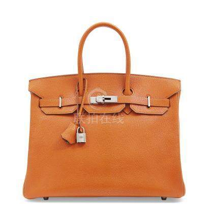 A POTIRON CHÈVRE LEATHER BIRKIN 35 WITH RUTHÉNIUM HARDWARE