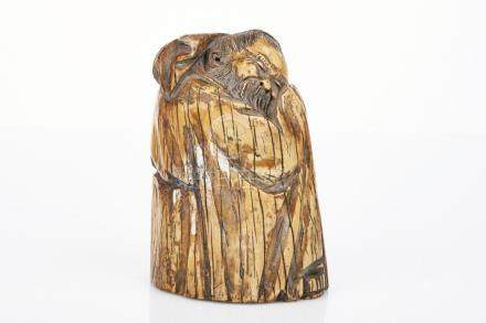 Chinese Mammoth Ivory Figure of a Sleeping Sage