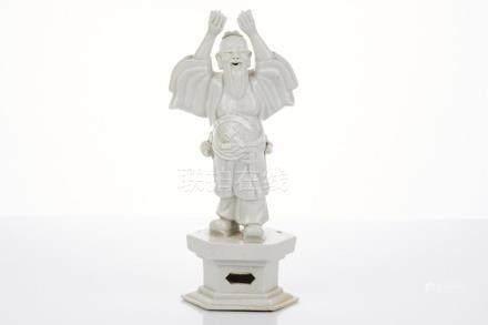 Blanc de Chine Porcelain Figure of Buddha