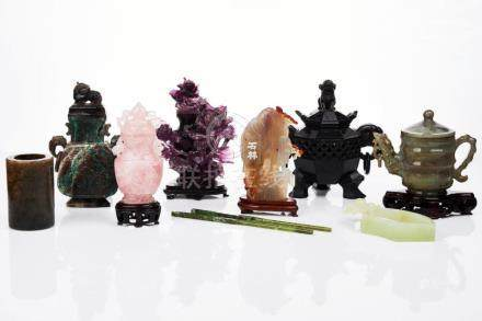 Assorted Chinese Carved Jade and Hardstone Items
