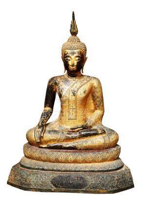 Thai Gilt-bronze Figure of Buddha
