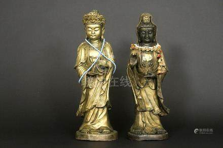 two Chinese sculptures in bronze