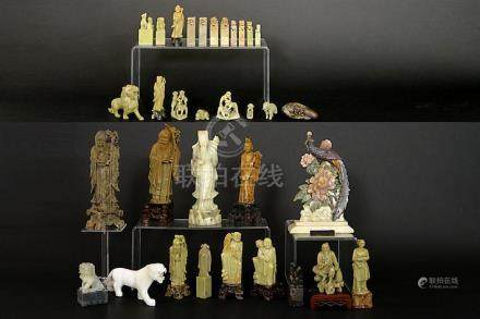 quite a lot of Chinese sculptures in soapstone