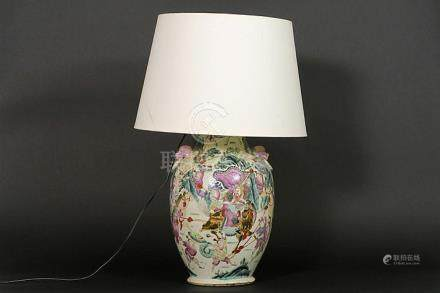lamp with an antique Chinese 'Nankin' vase in porcelain