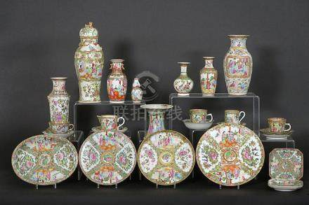 several antique pieces of Chinese 'Canton' porcelain