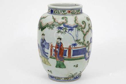 Chinese vase in marked porcelain