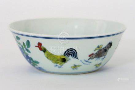 small Chinese bowl in marked porcelain