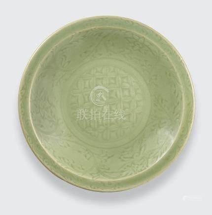 A Longquan celadon dish Ming dynasty, 15th century