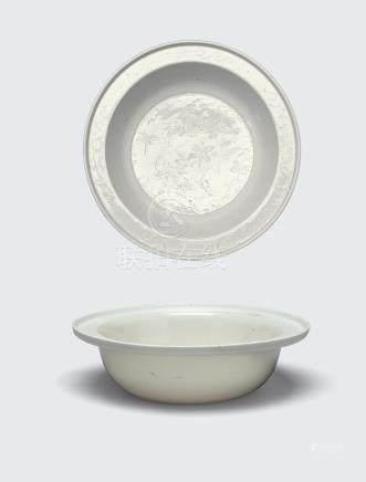 Two glazed porcelain basins 19th century