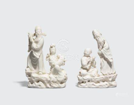 Two Dehua figural groups of Daoist immortals 18th century