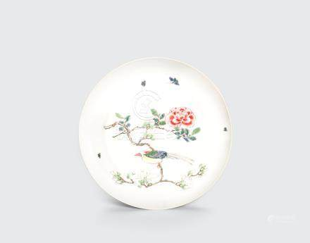 A famille rose enameled deep dish Yongzheng six-character mark and of the period