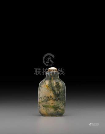 A moss agate snuff bottle Late 18th/19th century