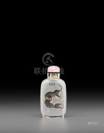 An inside-painted glass snuff bottle Ma Shaoxuan, dated 1903