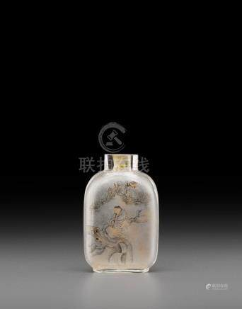 An inside-painted glass snuff bottle Beijing School, late Qing/Republic period
