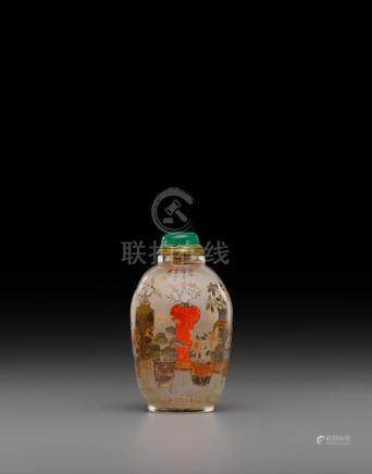 An inside-painted glass snuff bottle Ye Zhongsan, 1906