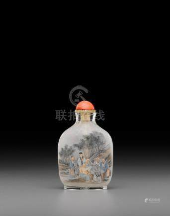 An inside-painted glass snuff bottle Bi Rongjiu (1874-1925), 1924