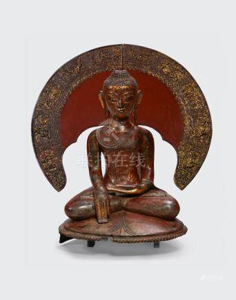 A dry lacquer figure of Buddha  Myanmar, Ava style, 19th century