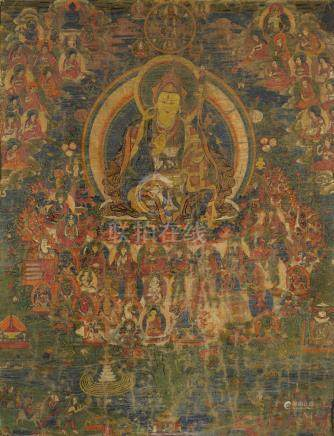 A THANGKA OF A NYINGMA REFUGE FIELD  Tibet, 19th century