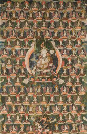 A thangka of White Tara Tibet, 19th century