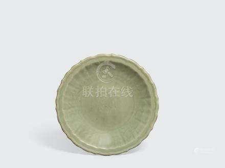 A longquan celadon dish with foliate rim Ming dynasty