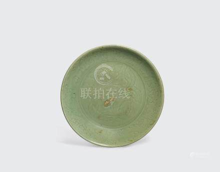 A large longquan celadon charger Ming dynasty, 15th century