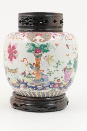 Chinese famille rose ginger jar, Qianlong (1726-95),