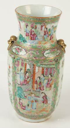 A Chinese canton vase, 19th century,