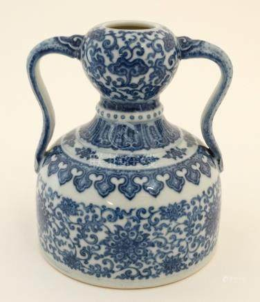 A Chinese blue and white,